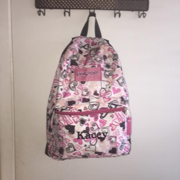 Jansport Kagey heart backpack custom made